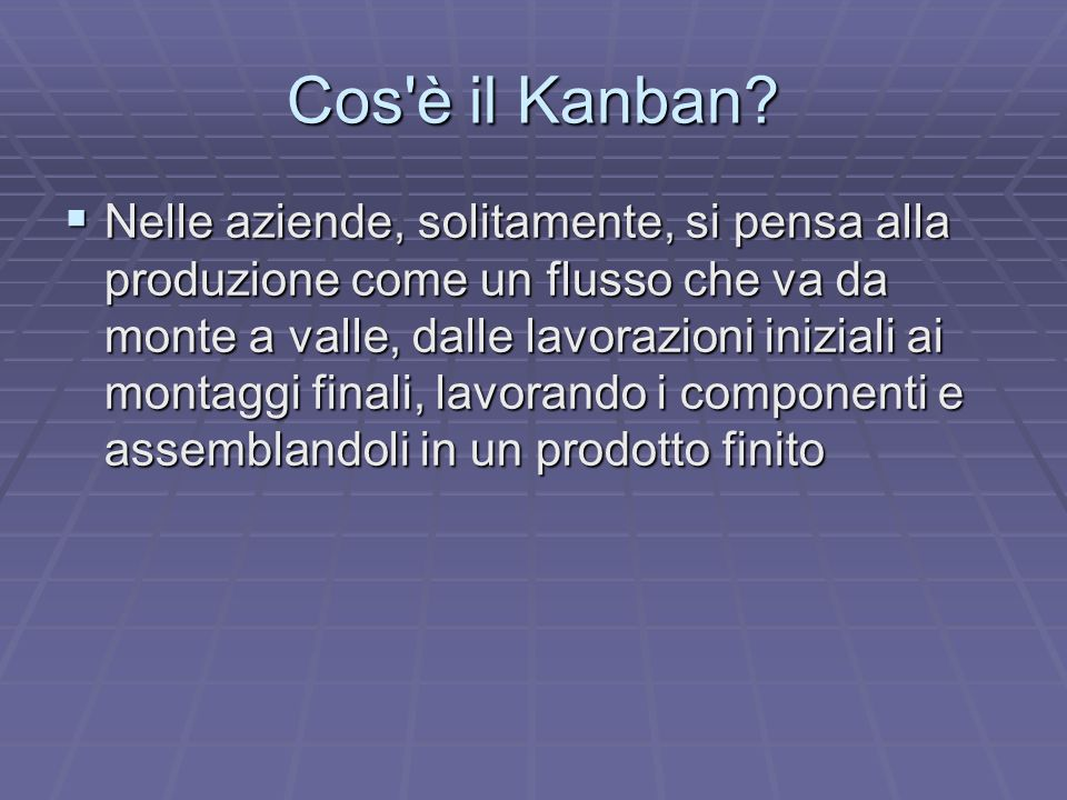 Cos è il Kanban