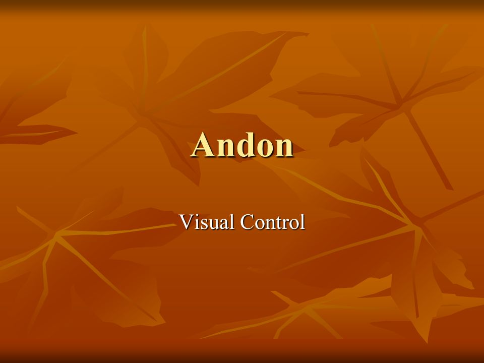 Andon Visual Control