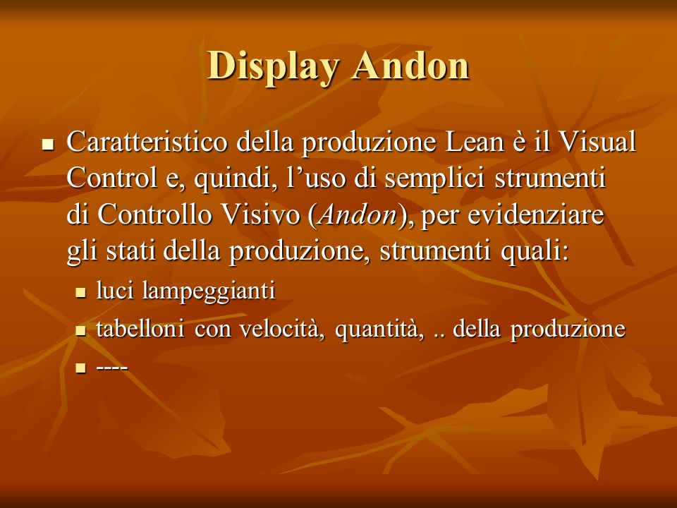 Display Andon