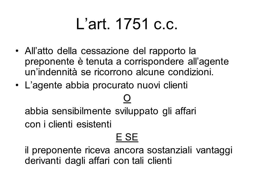 L'art. 1751 c.c.
