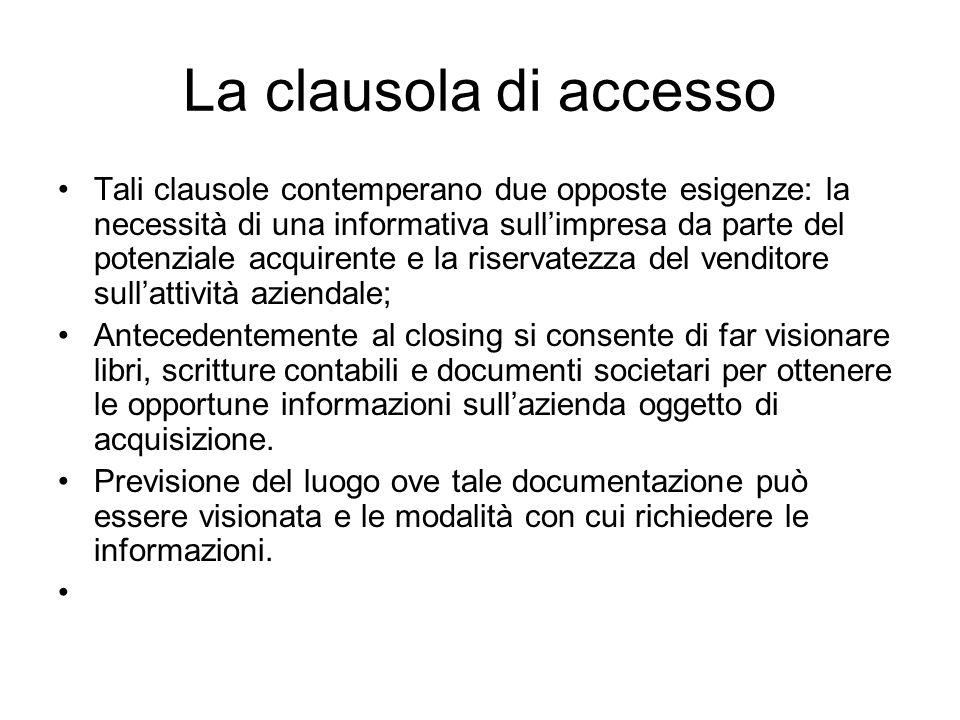 La clausola di accesso