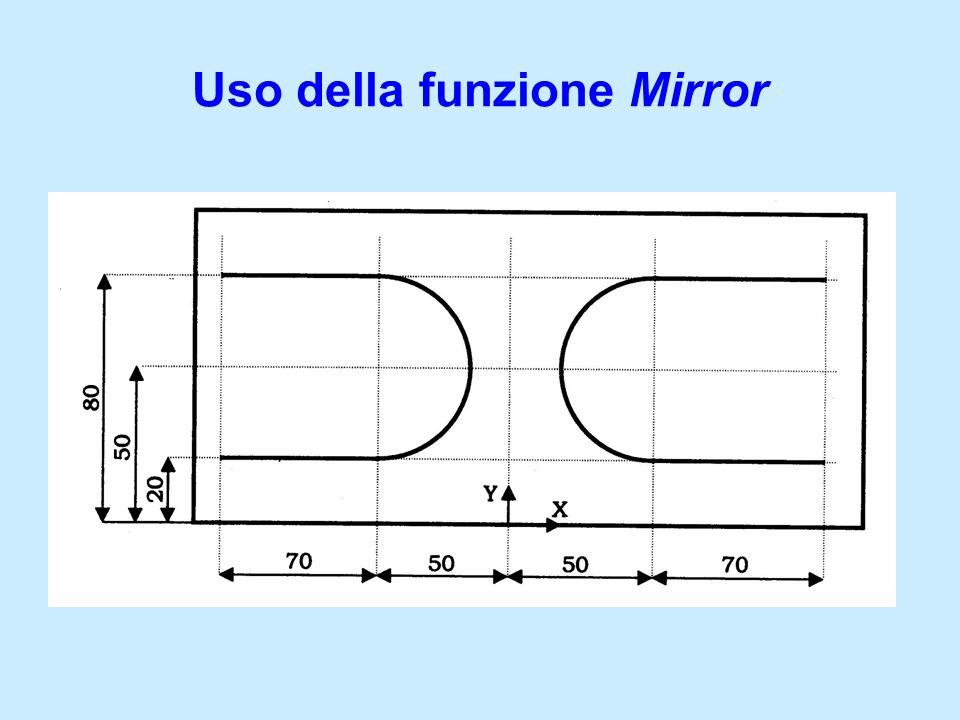 Uso della funzione Mirror