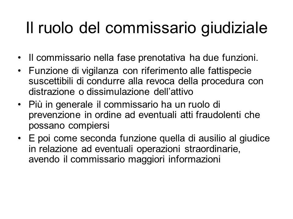 Il ruolo del commissario giudiziale