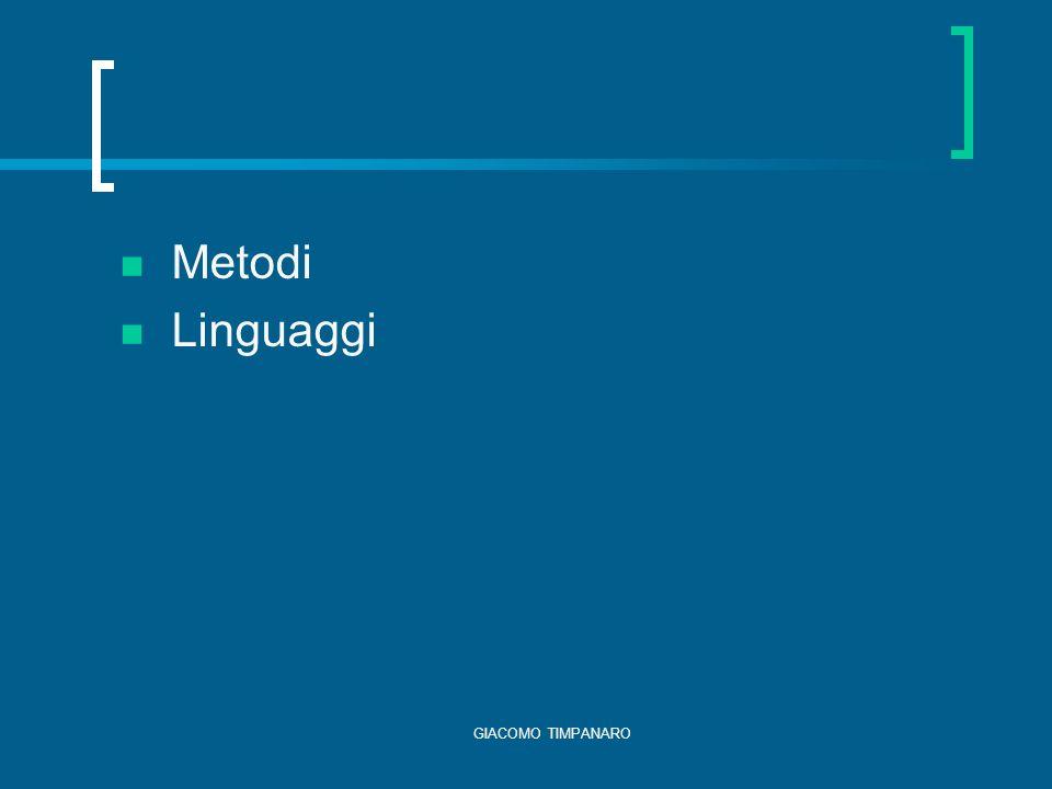 Metodi Linguaggi GIACOMO TIMPANARO