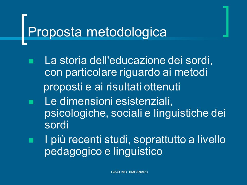 Proposta metodologica