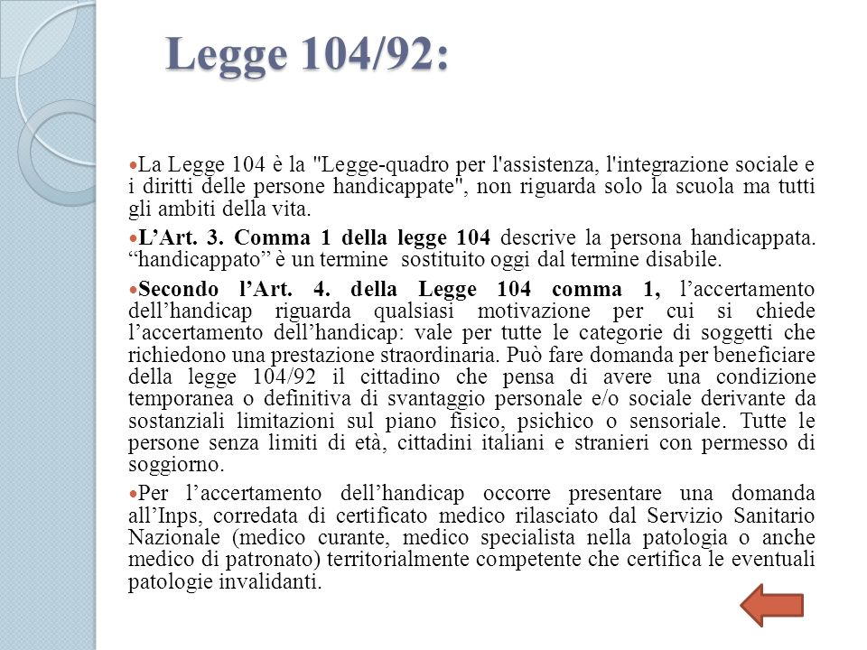 Legge 104/92: