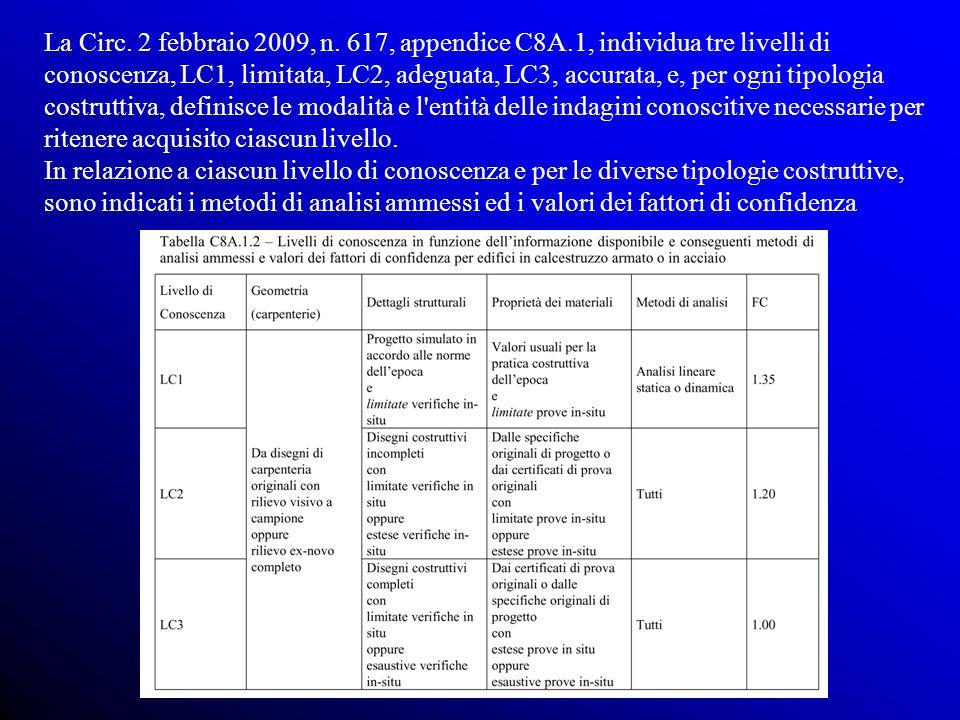 La Circ. 2 febbraio 2009, n. 617, appendice C8A