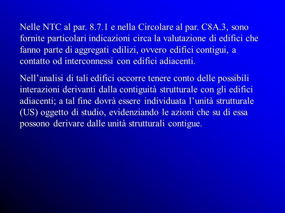 Nelle NTC al par. 8. 7. 1 e nella Circolare al par. C8A
