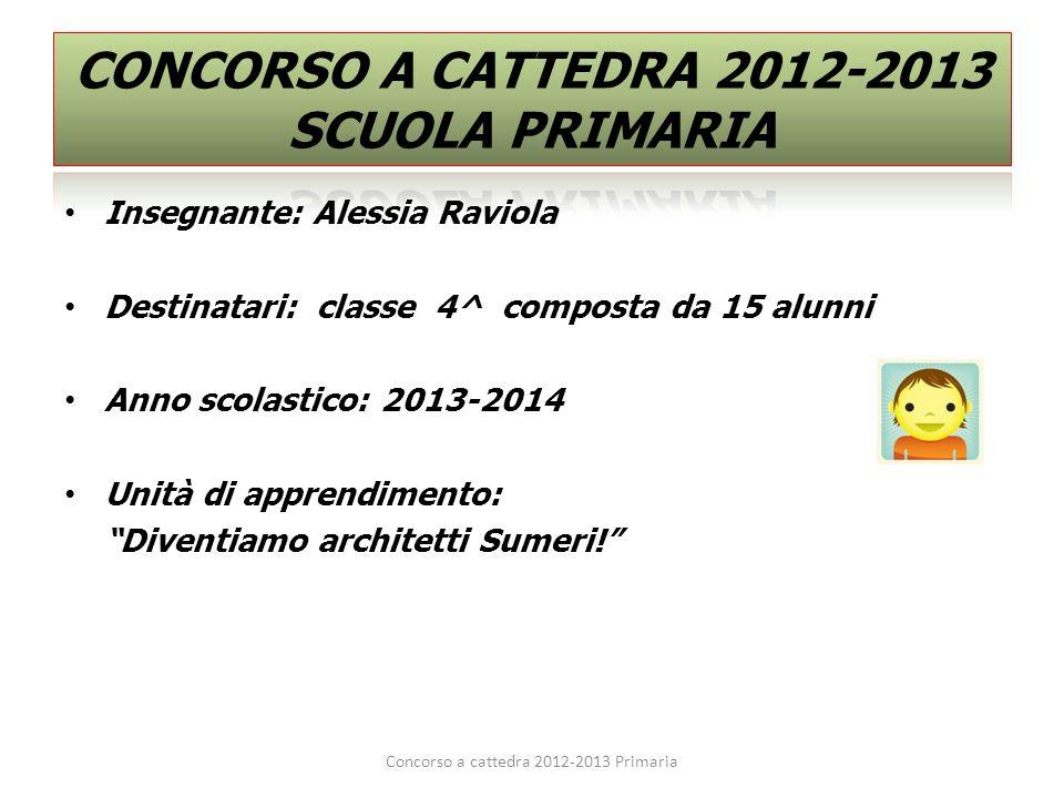 CONCORSO A CATTEDRA 2012-2013 SCUOLA PRIMARIA