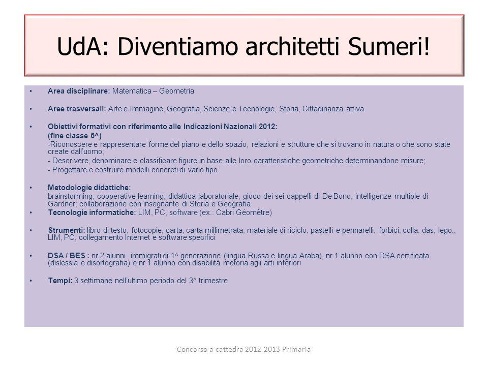 UdA: Diventiamo architetti Sumeri!