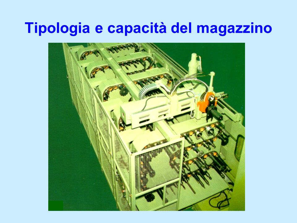 Tipologia e capacità del magazzino