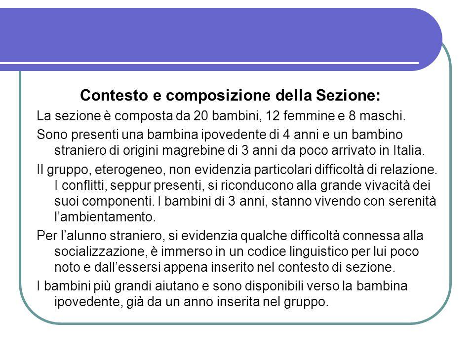 Contesto e composizione della Sezione: