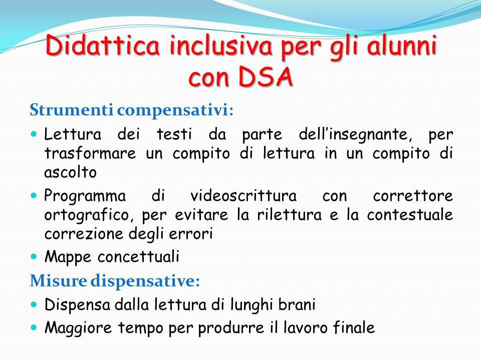 Didattica inclusiva per gli alunni con DSA