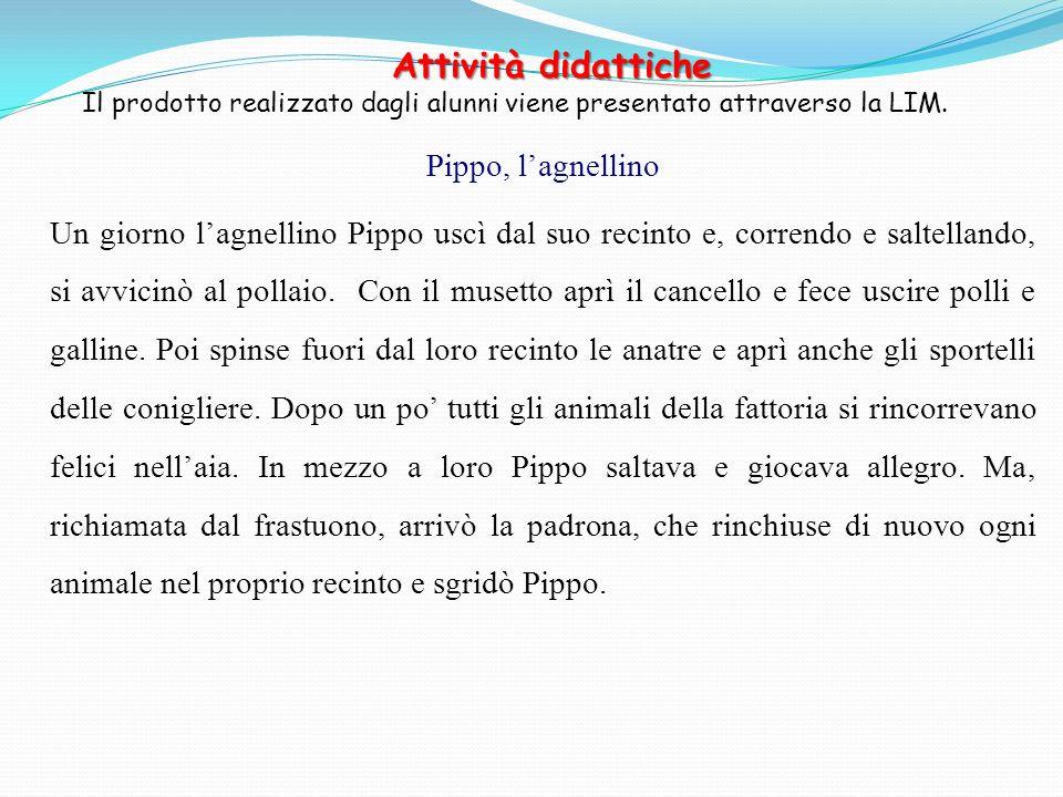 Attività didattiche Pippo, l'agnellino