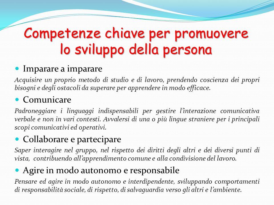 Competenze chiave per promuovere lo sviluppo della persona