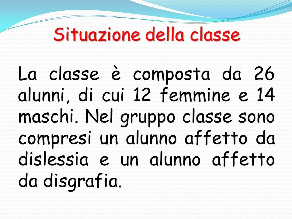 Situazione della classe