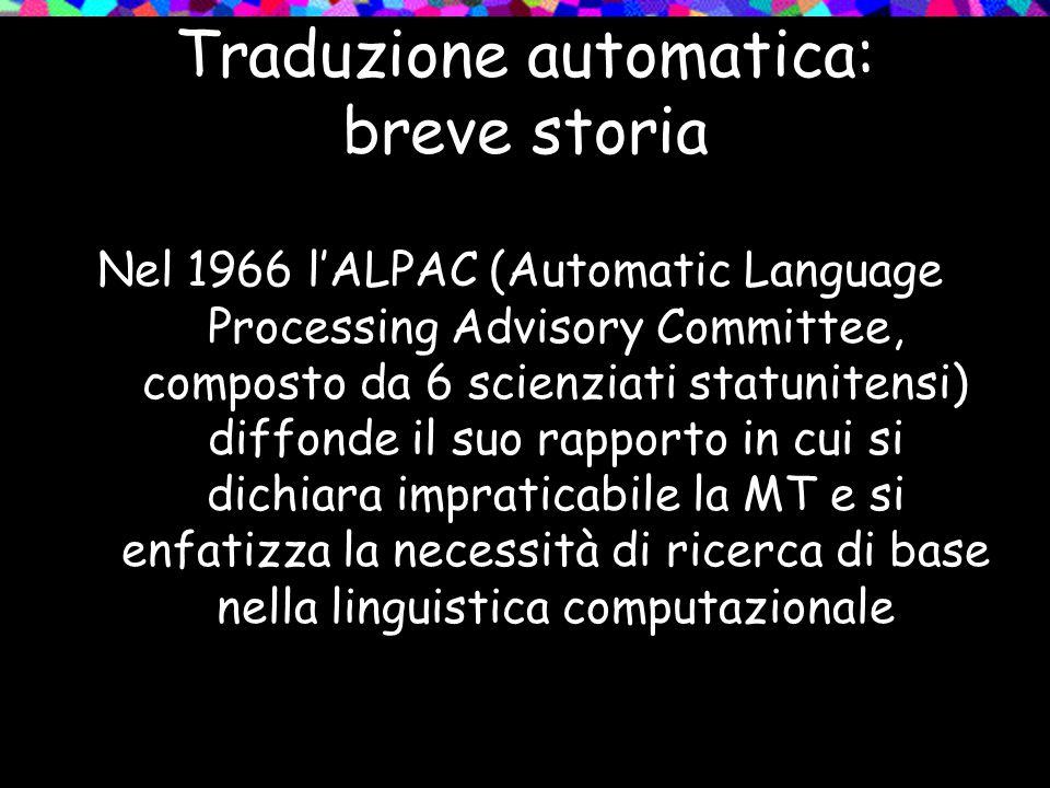 Traduzione automatica: breve storia