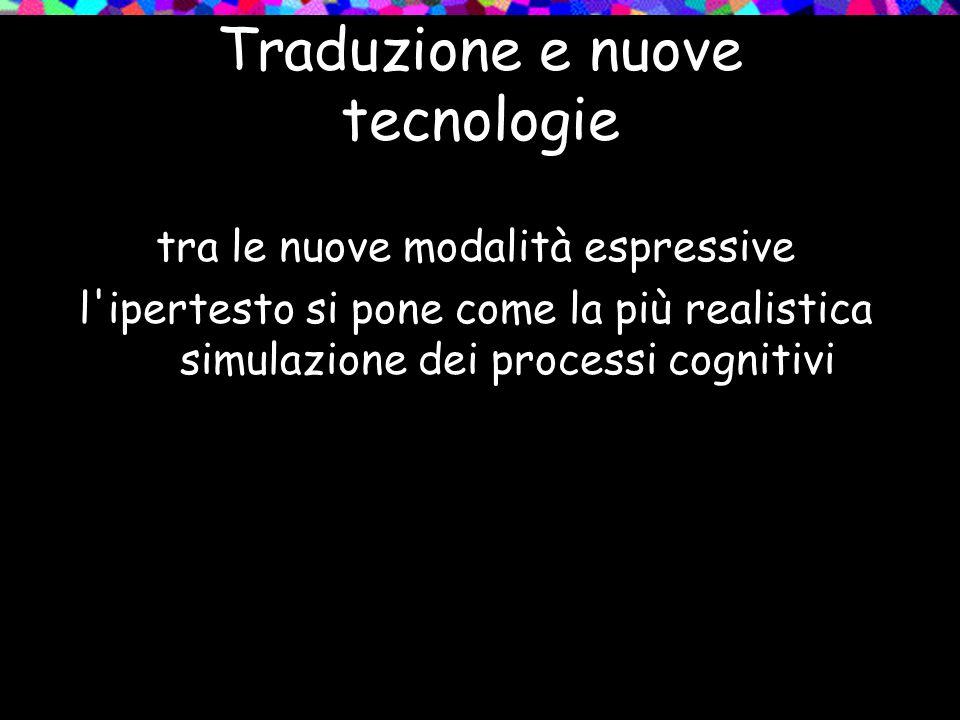 Traduzione e nuove tecnologie