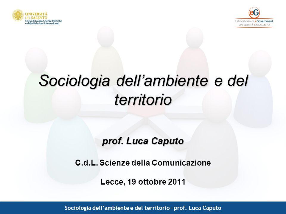 Sociologia dell'ambiente e del territorio