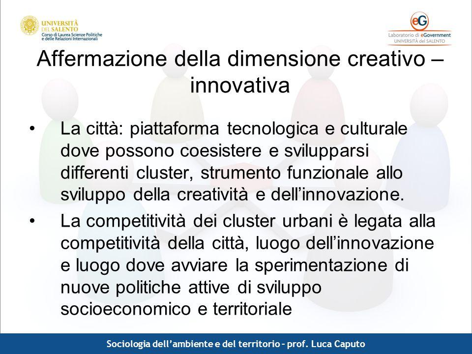 Affermazione della dimensione creativo – innovativa