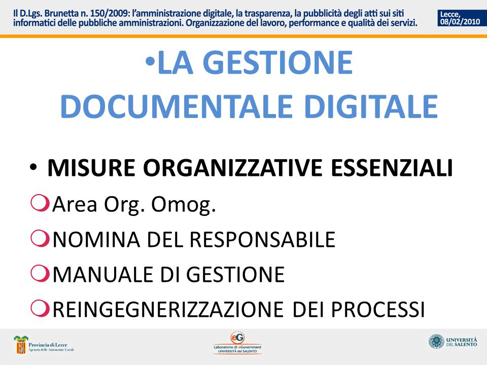 La gestione documentale digitale