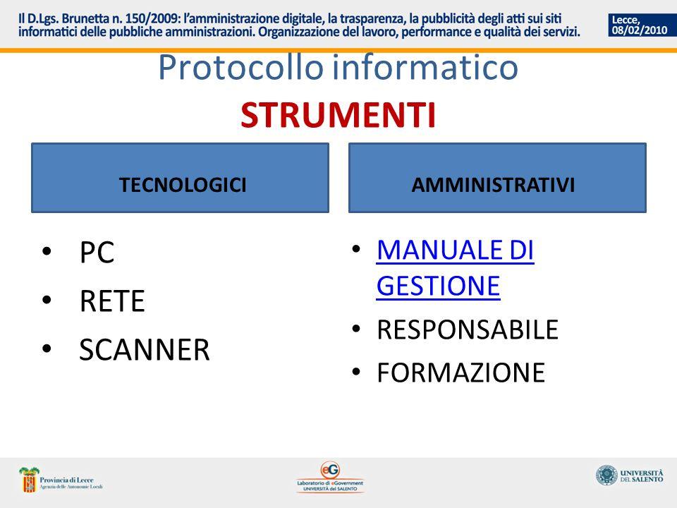 Protocollo informatico STRUMENTI