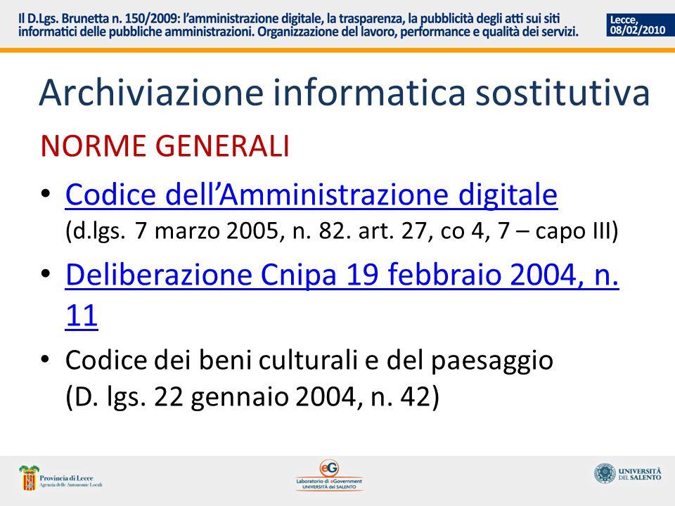 Archiviazione informatica sostitutiva