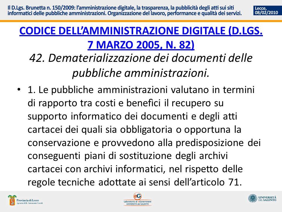 Codice dell'Amministrazione digitale (d.lgs. 7 marzo 2005, n. 82)