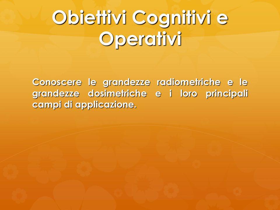Obiettivi Cognitivi e Operativi