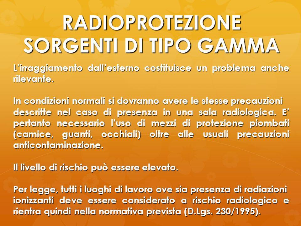 RADIOPROTEZIONE SORGENTI DI TIPO GAMMA