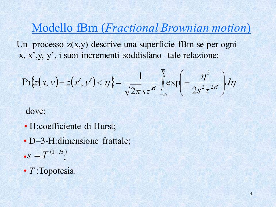 Modello fBm (Fractional Brownian motion)