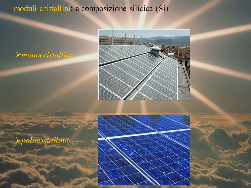 …moduli cristallini: a composizione silicica (Si)