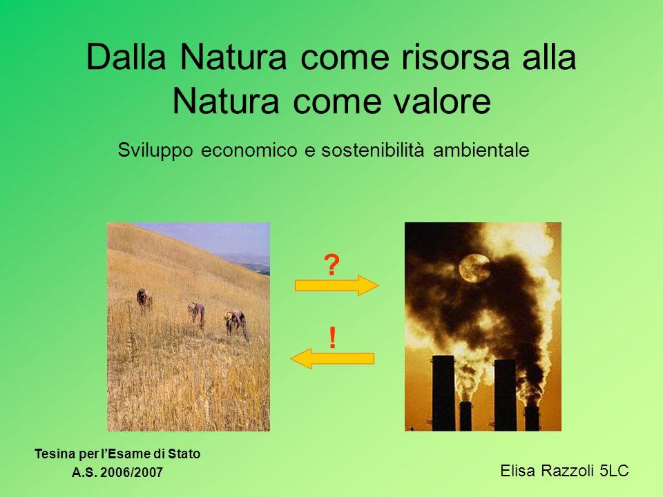Dalla Natura come risorsa alla Natura come valore