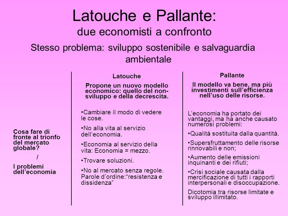 Latouche e Pallante: due economisti a confronto