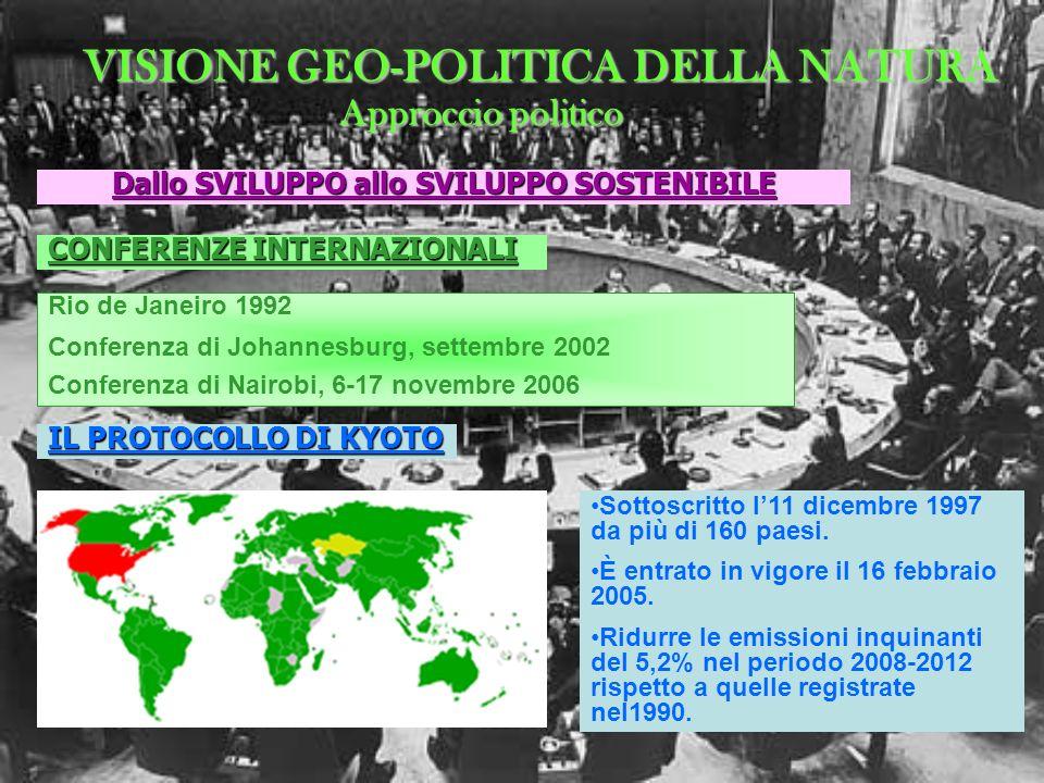 VISIONE GEO-POLITICA DELLA NATURA
