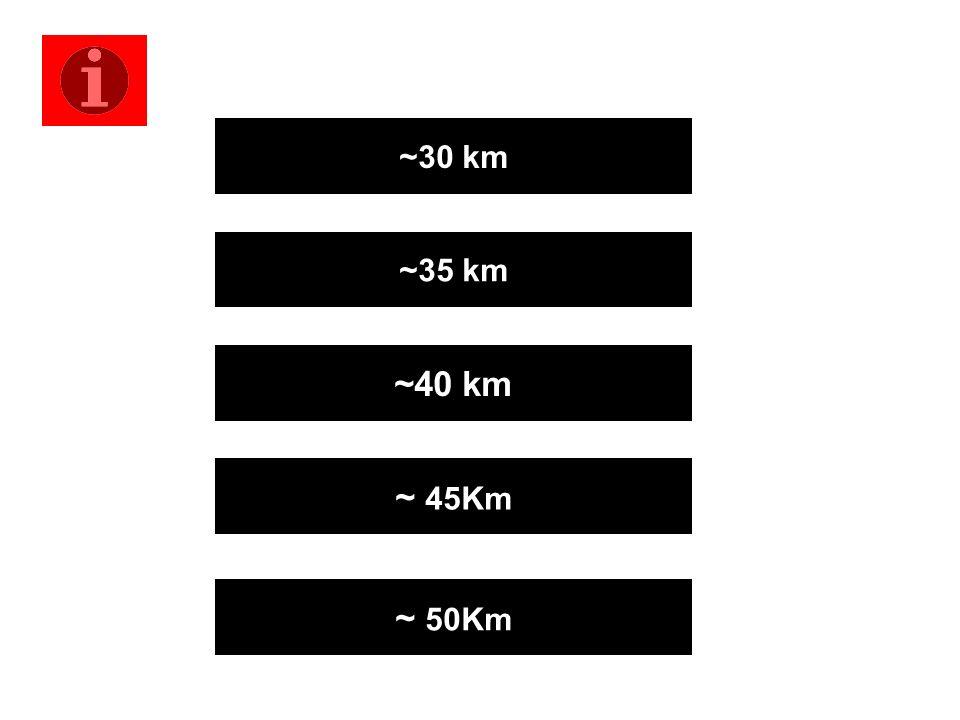 ~30 km ~35 km ~40 km ~ 45Km ~ 50Km