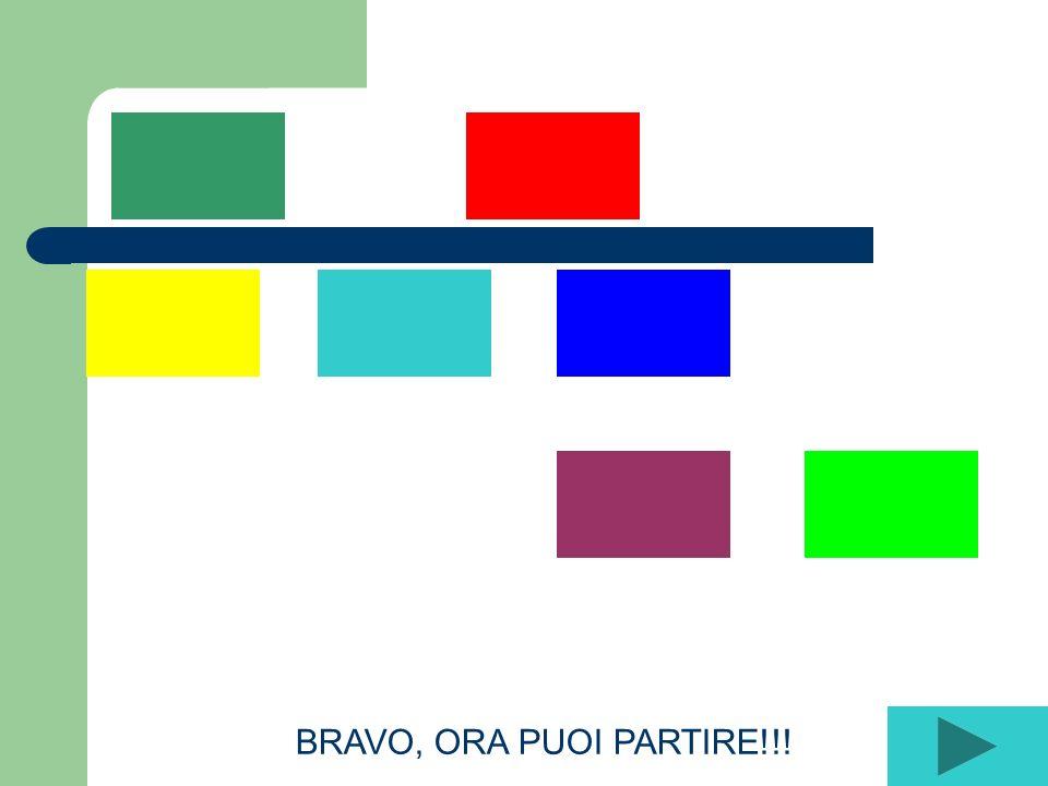 BRAVO, ORA PUOI PARTIRE!!!