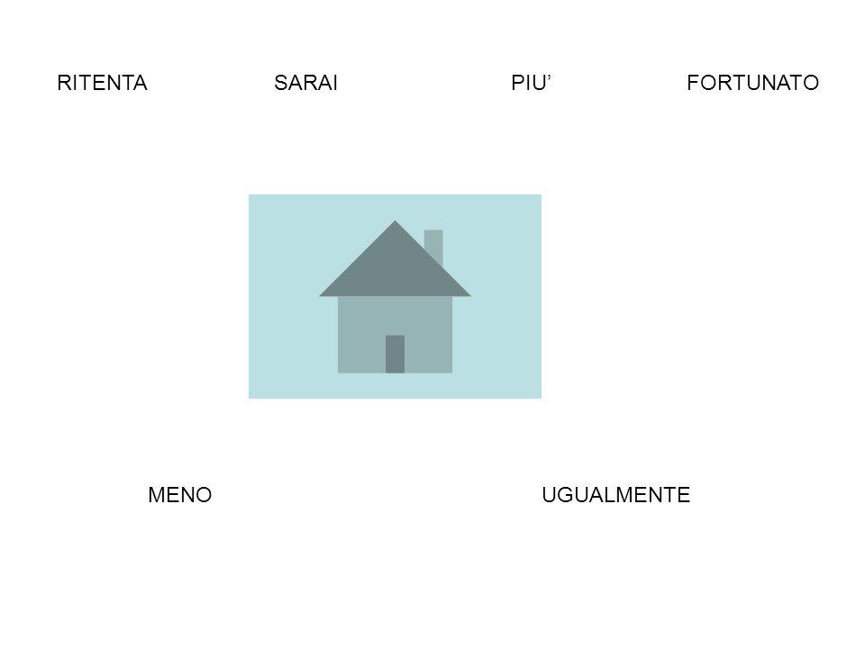 RITENTA SARAI PIU' FORTUNATO MENO UGUALMENTE