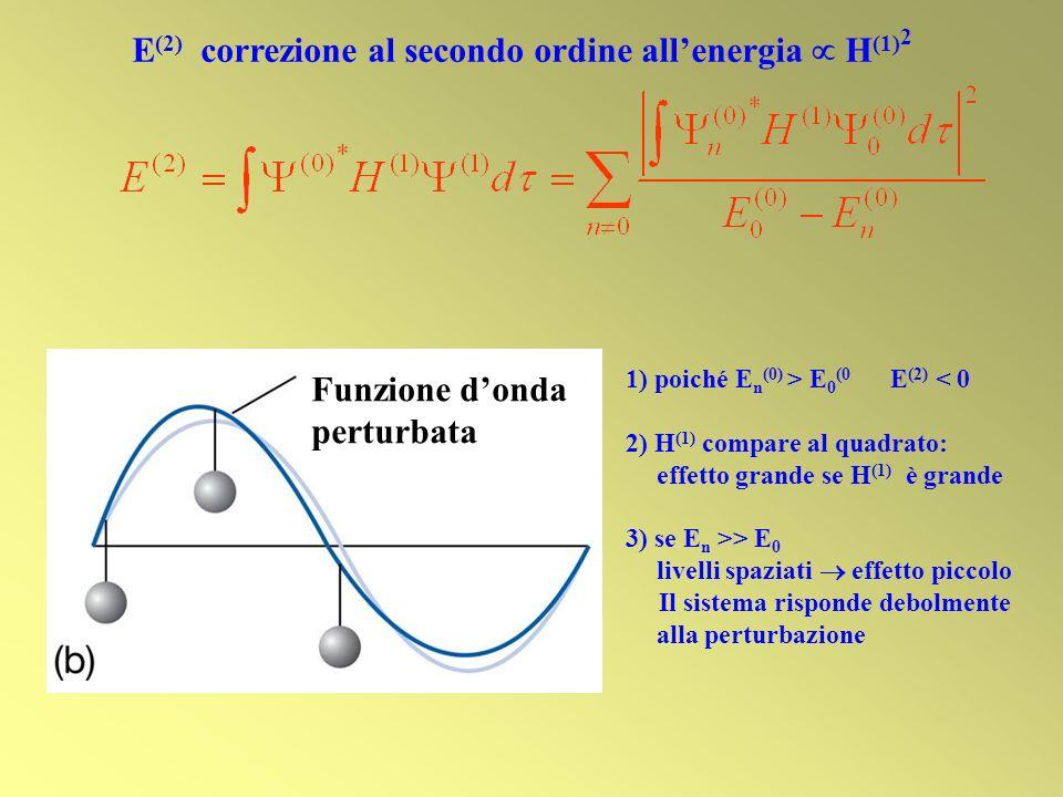 E(2) correzione al secondo ordine all'energia  H(1)2