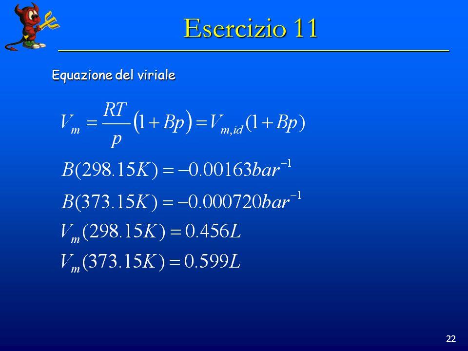 Esercizio 11 Equazione del viriale