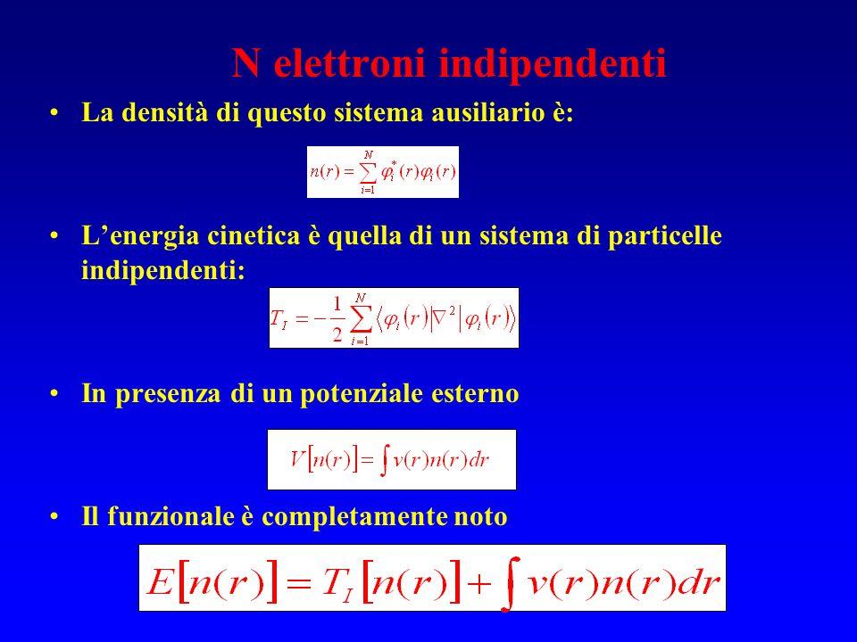 N elettroni indipendenti