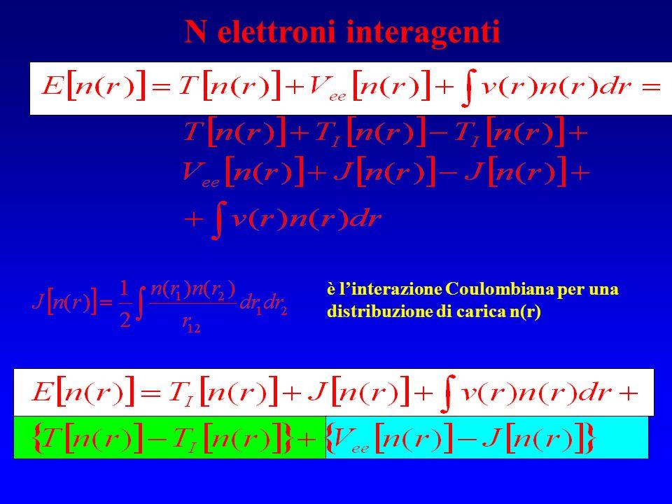 N elettroni interagenti