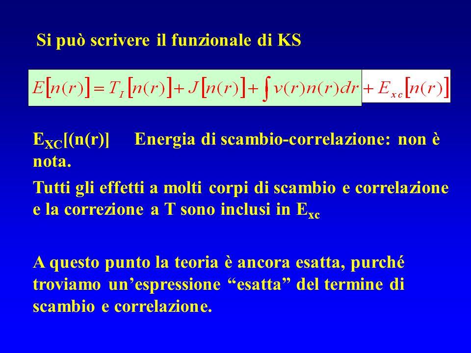 Si può scrivere il funzionale di KS