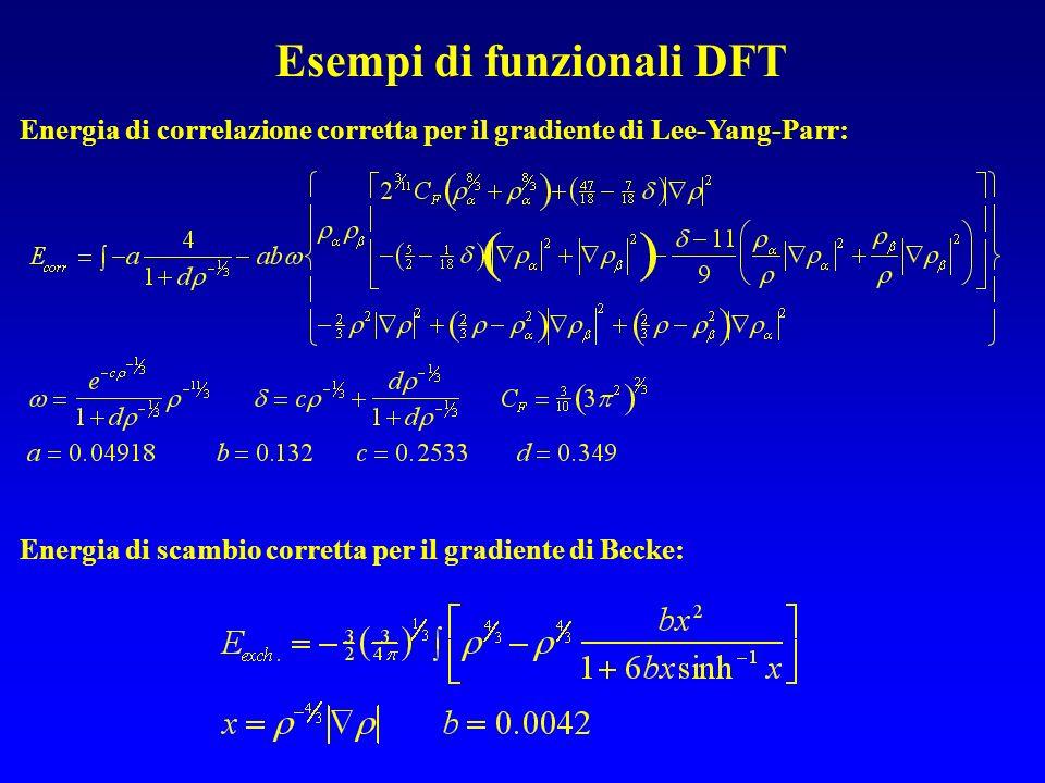 Esempi di funzionali DFT