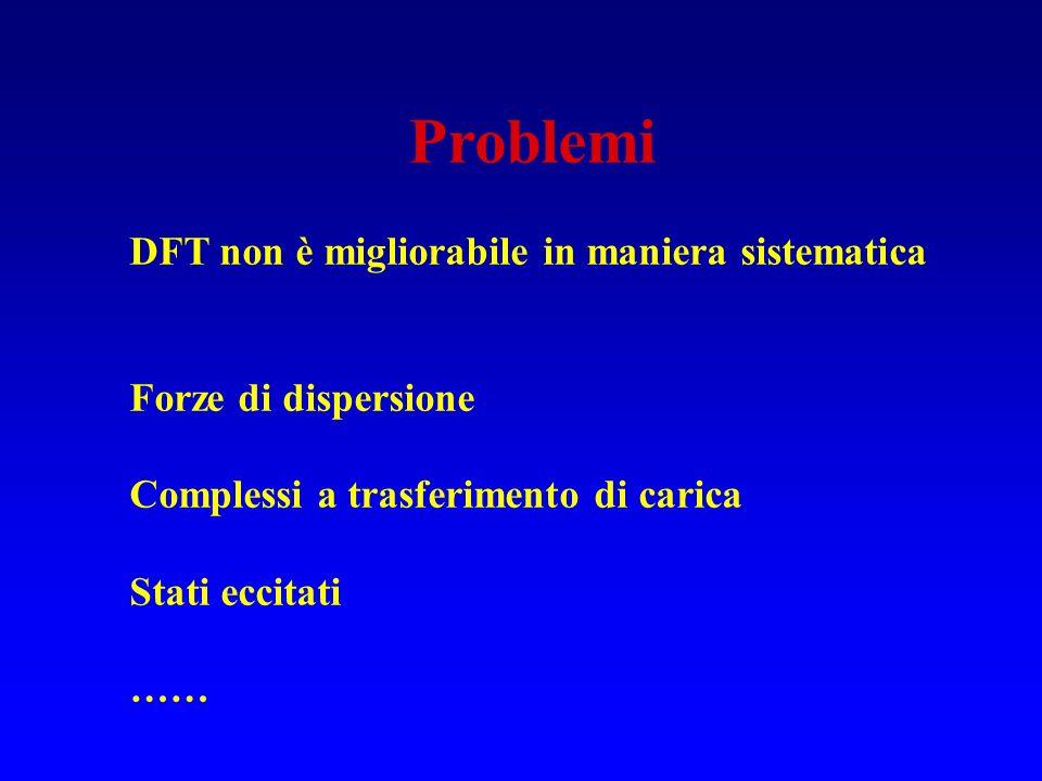 Problemi DFT non è migliorabile in maniera sistematica