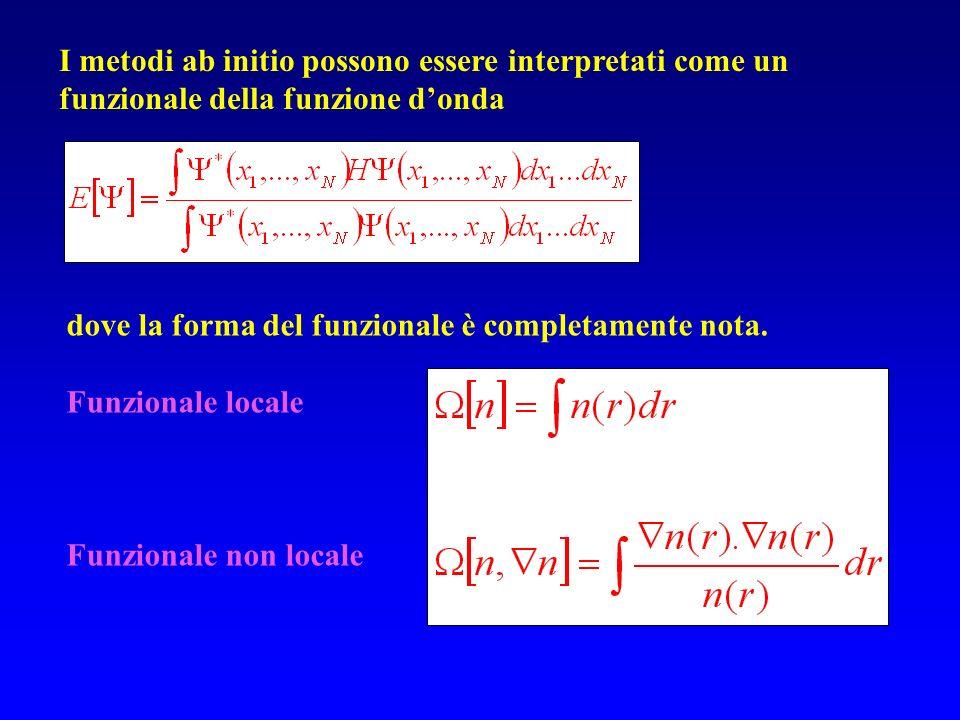 I metodi ab initio possono essere interpretati come un funzionale della funzione d'onda
