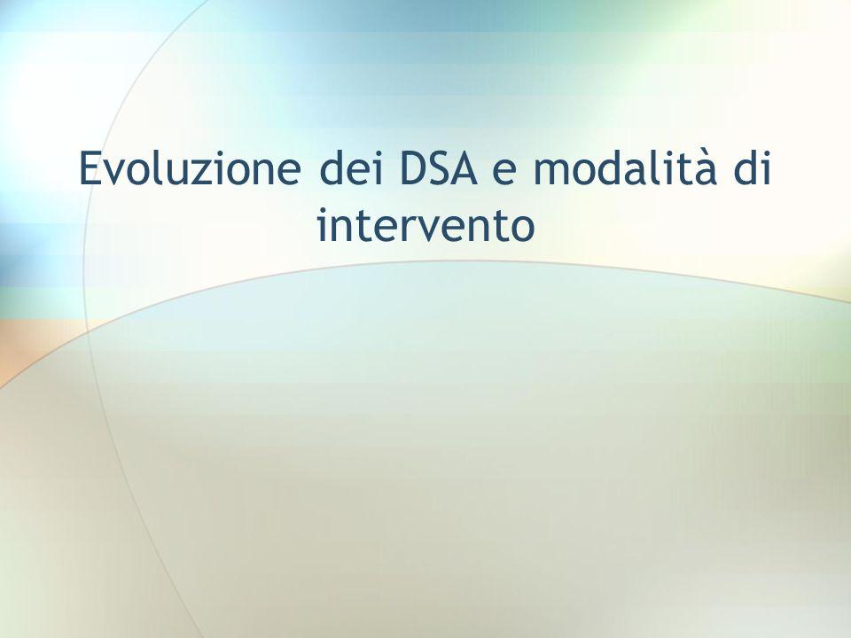 Evoluzione dei DSA e modalità di intervento