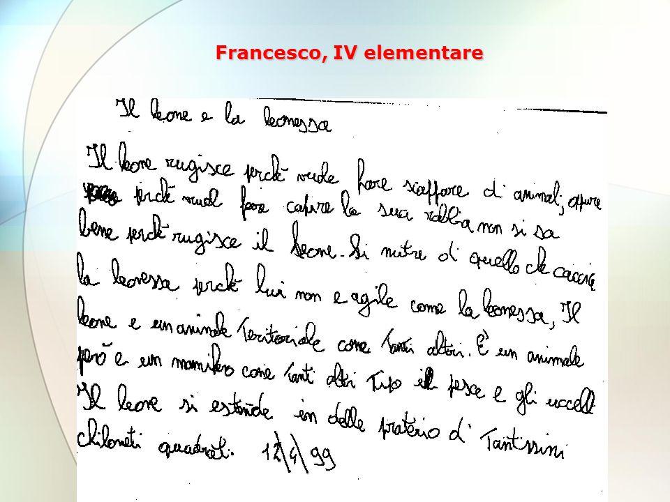 Francesco, IV elementare