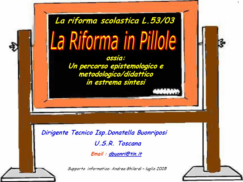 La riforma scolastica L.53/03