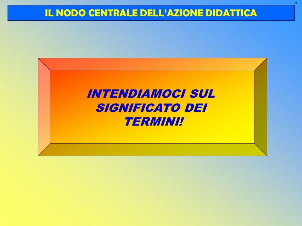 IL NODO CENTRALE DELL'AZIONE DIDATTICA
